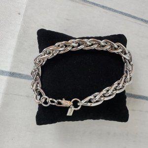 Vintage Monet Silver Double Curve Link Bracelet
